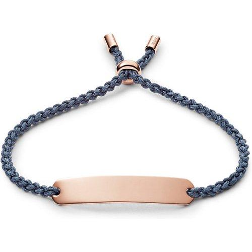 Men Bracelet Plaque En Nylon Bleu Marine - One size - Fossil - Modalova