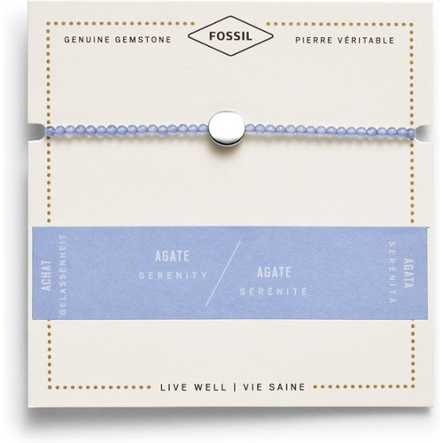 Unisex Bracelet Disque D'Agate - One size - Fossil - Modalova