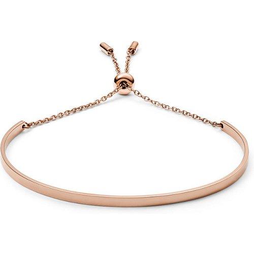 Unisex Bracelet Incurvé En Acier Inoxydable Doré Rose - One size - Fossil - Modalova
