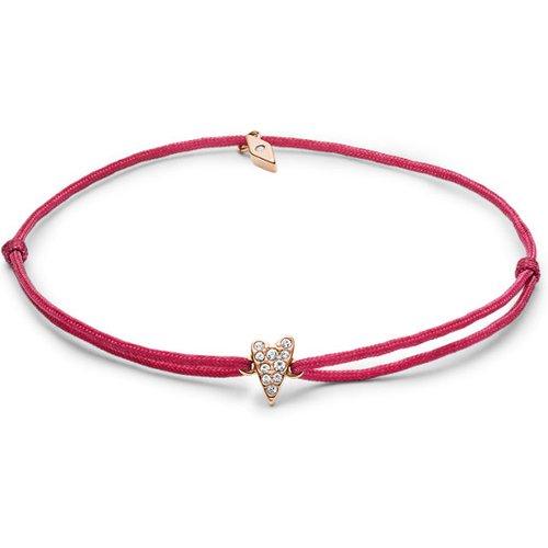 Unisex Bracelet Cœur En Nylon Rose - One size - Fossil - Modalova