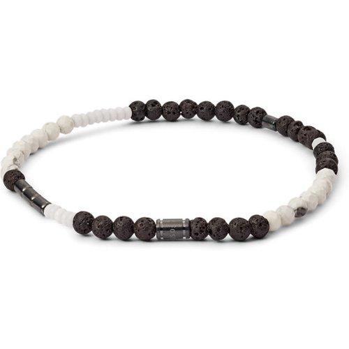 Unisex Bracelet En Pierre De Lave, Jade Coloré Et Howlite - One size - Fossil - Modalova
