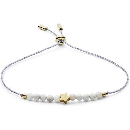 Unisex Bracelet Étoile En Howlite / - One size - Fossil - Modalova
