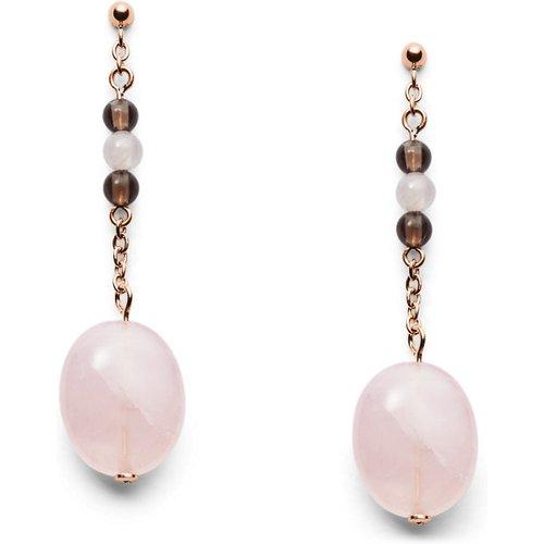 Women Boucles D'Oreilles Pendantes Avec Perles En Acier Inoxydable Doré Rose - One size - Fossil - Modalova