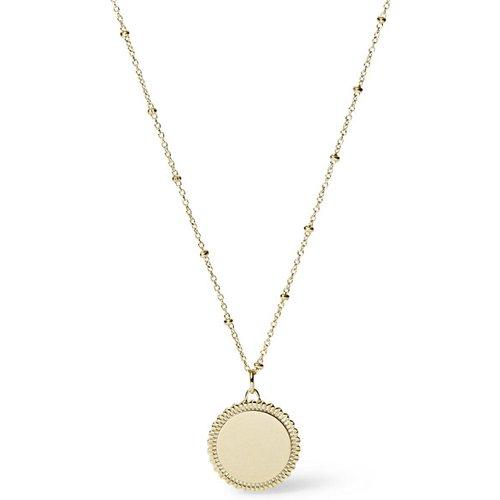 Women Collier Avec Médaillon En Acier Inoxydable Doré - One size - Fossil - Modalova