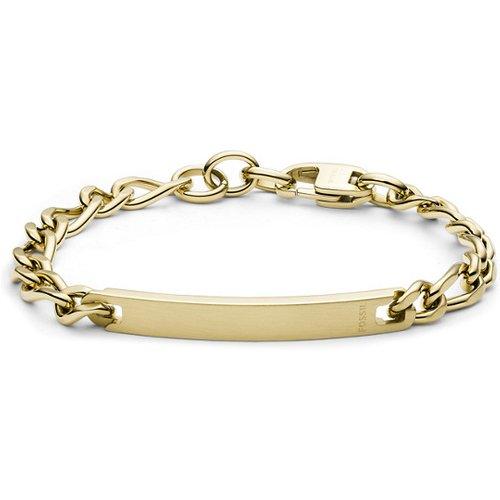 Men Bracelet Plaque En Acier Doré - One size - Fossil - Modalova