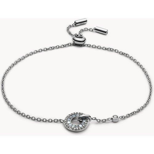 S Bracelet à chaîne en acier inoxydable  - Fossil - Modalova