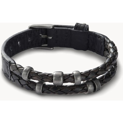 Bracelet en cuir noir  - Fossil - Modalova