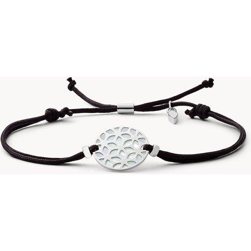 S Bracelet floral en argent 925  - Fossil - Modalova