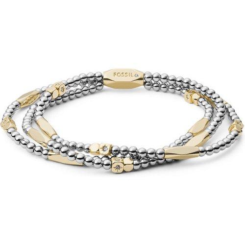 Unisex Bracelet Réglable À Perles Bicolores - One size - Fossil - Modalova