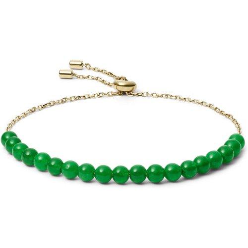 Unisex Bracelet De Perles En Acier Inoxydable Doré - One size - Fossil - Modalova
