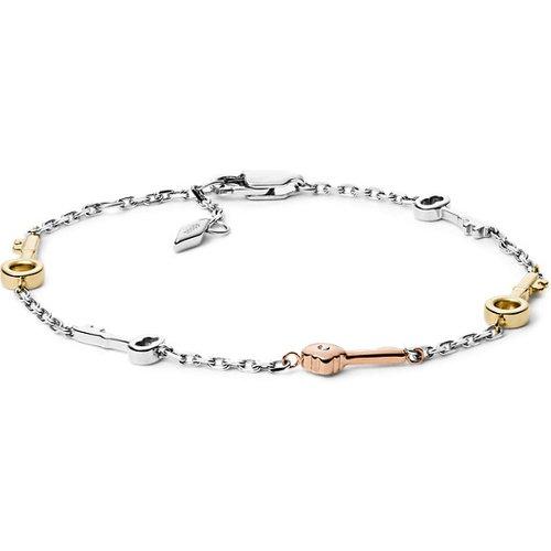 Unisex Bracelet En Acier Inoxydable Tricolore / - One size - Fossil - Modalova