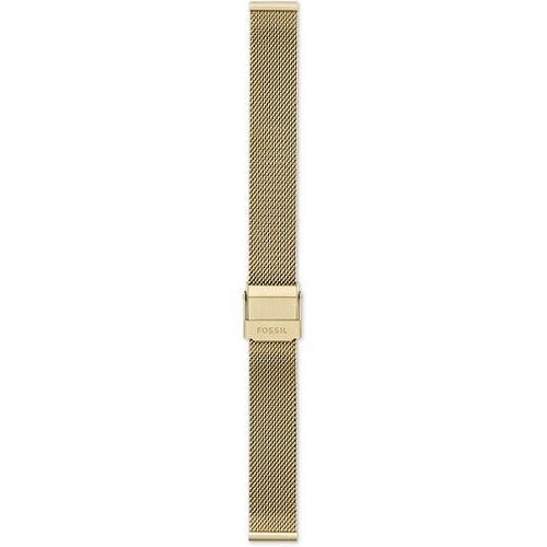 Women Bracelet En Maille Milanaise Inoxydable Dorée 14 Mm - One size - Fossil - Modalova