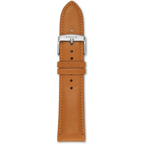 Men Bracelet De Montre Interchangeable En Cuir Brun Clair 22 Mm - One size - Fossil - Modalova