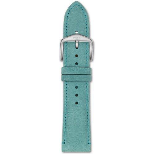 Unisex Bracelet De Montre Interchangeable En Cuir Turquoise 22 Mm - One size - Fossil - Modalova
