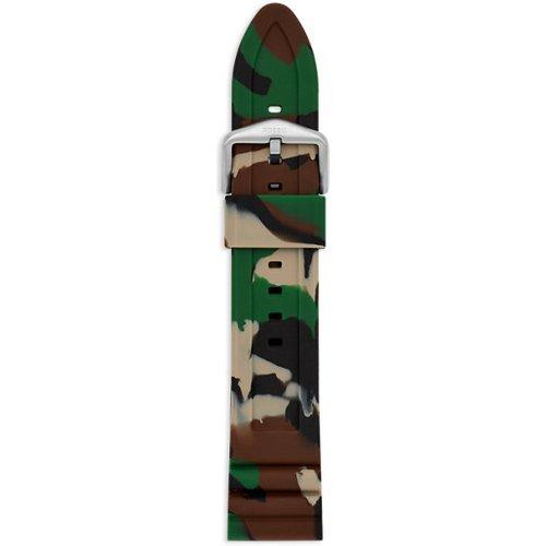Men Bracelet De Montre Interchangeable En Silicone Forêt Camouflage 22 Mm - One size - Fossil - Modalova
