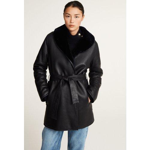 Manteau en peau lainée réversible - Claudie Pierlot - Modalova