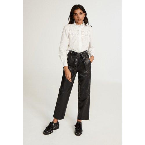 Pantalon en cuir - Claudie Pierlot - Modalova