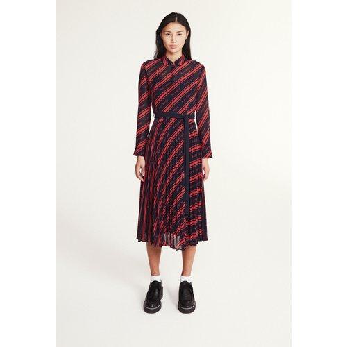 Robe mi-longue plissée - Claudie Pierlot - Modalova