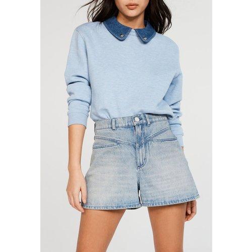 Sweatshirt à col amovible en coton bio - CLAUDIE PIERLOT - Modalova