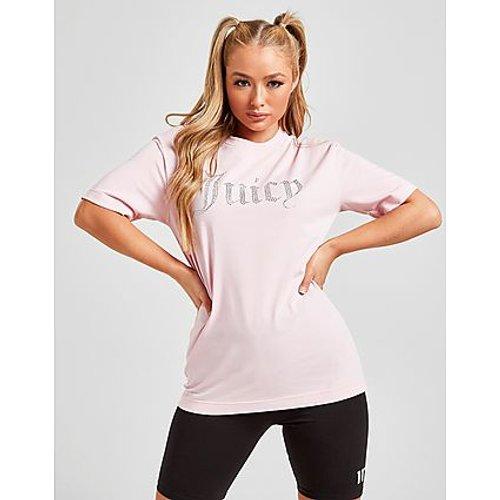T-shirt Diamante Logo Boyfriend - Juicy Couture - Modalova