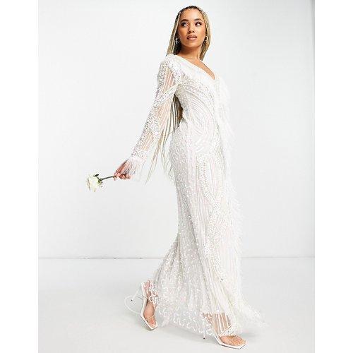 Robe de mariée longue ornée - Ivoire - A Star Is Born - Modalova