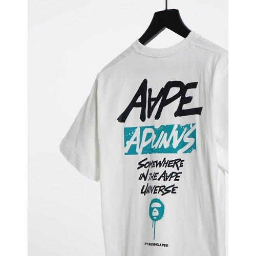 AAPE By A Bathing Ape - T-shirt à imprimé graffiti au dos - AAPE BY A BATHING APE® - Modalova