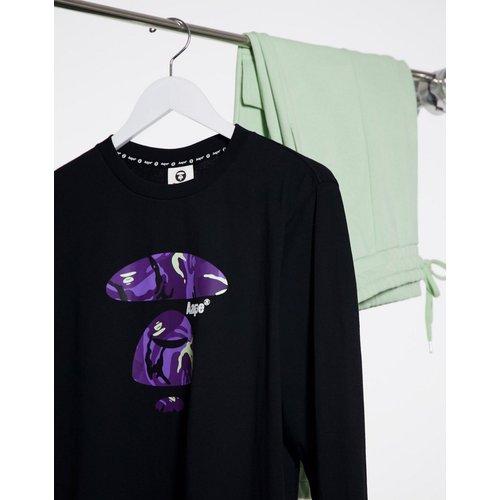 AAPE By A Bathing Ape - T-shirt manches longues imprimé sur le devant - AAPE BY A BATHING APE® - Modalova
