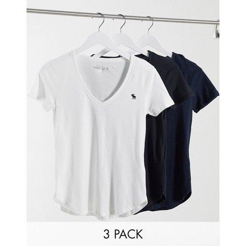 Lot de 3 t-shirts col V - Abercrombie & Fitch - Modalova