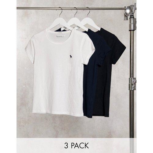 Lot de 3 t-shirts ras de cou - Abercrombie & Fitch - Modalova