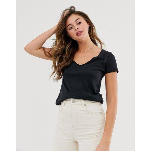 T-shirt à col V - Abercrombie & Fitch - Modalova