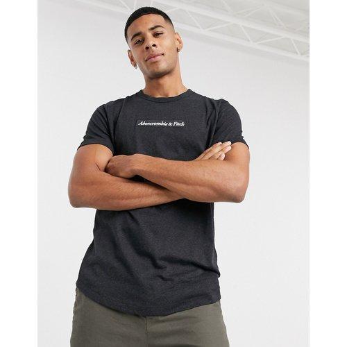 T-shirt à logo encadré et ourlet arrondi - chiné - Abercrombie & Fitch - Modalova