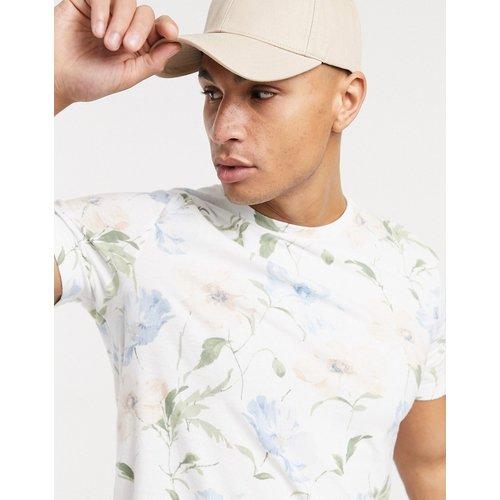 T-shirt à ourlet arrondi et imprimé floral - Abercrombie & Fitch - Modalova