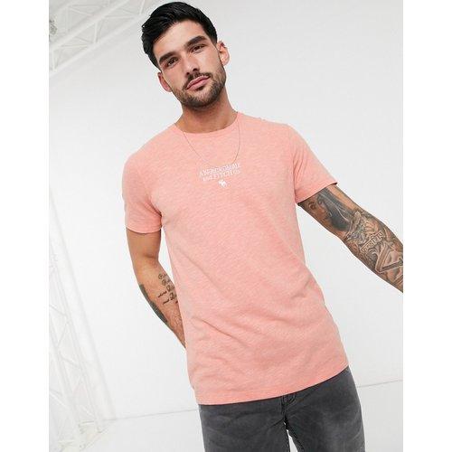 T-shirt délavé à logo - Abercrombie & Fitch - Modalova