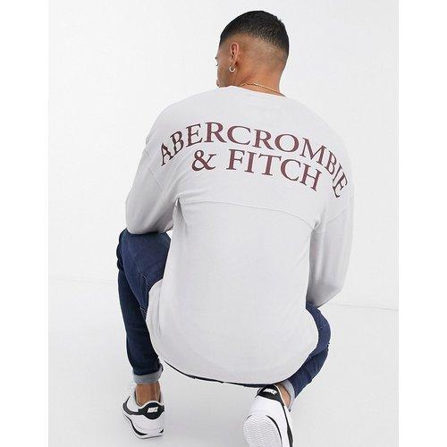 - Top à manches longues et dos croisé avec logo - Fauve - Abercrombie & Fitch - Modalova