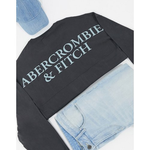 Top à manches longues et logo dans le dos - Abercrombie & Fitch - Modalova
