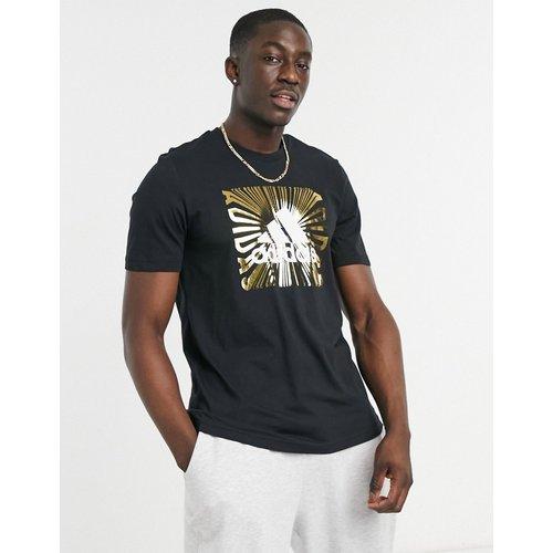 Adidas - Extrusion Motion - T-shirt avec imprimé doré métallisé - adidas performance - Modalova