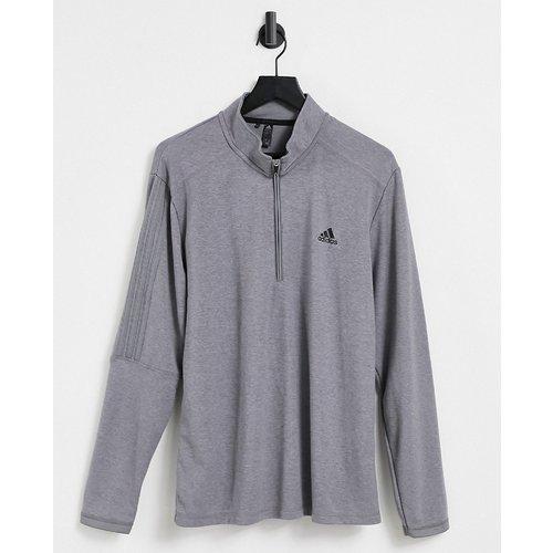Sweat-shirt à fermeture éclair partielle et logo 3 bandes - adidas Golf - Modalova