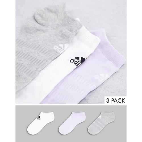 Adidas - Lot de 3 paires de socquettes - Blanc/lilas/gris - adidas performance - Modalova