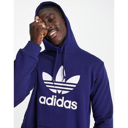 Adicolor - Hoodie avec grand logo trèfle - Bleu - adidas Originals - Modalova