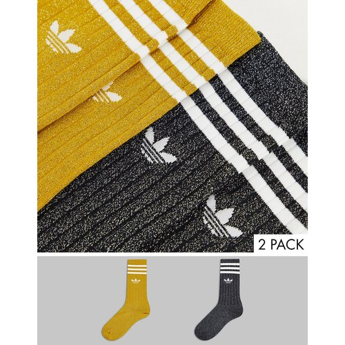 Adicolor - Lot de 2paires de chaussettes scintillantes - adidas Originals - Modalova