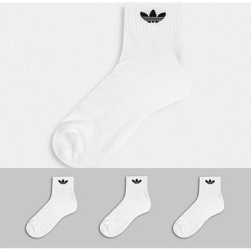 Adicolor - Lot de 3 paires de chaussettes mi-hautes à logo trèfle - adidas Originals - Modalova