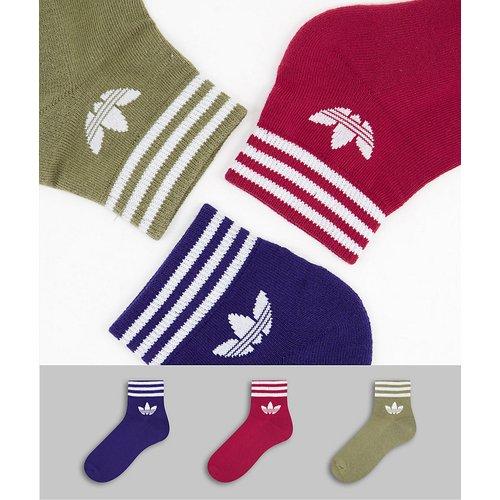 Adicolor - Lot de 3 paires de chaussettes mi-hautes à logo trèfle - Couleurs variées - adidas Originals - Modalova