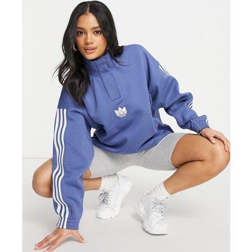 Adicolor - Sweat-shirt col montant à trois bandes et logo 3D - adidas Originals - Modalova