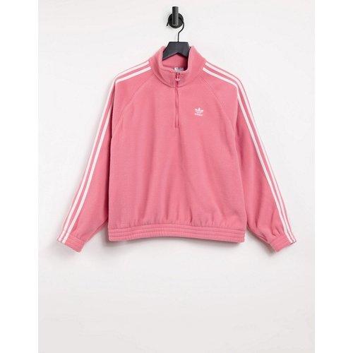 Adicolor - Sweat-shirt en polaire à fermeture éclair 3/4 et logo trois bandes - trouble - adidas Originals - Modalova