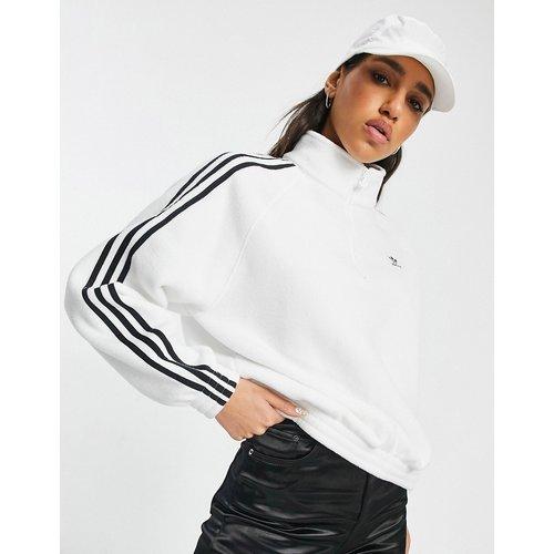 Adicolor - Sweat-shirt en polaire à fermeture éclair partielle et logo trois bandes - adidas Originals - Modalova