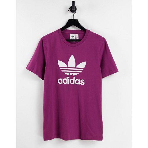 Adicolor - T-shirt à grand logo - Prune - adidas Originals - Modalova
