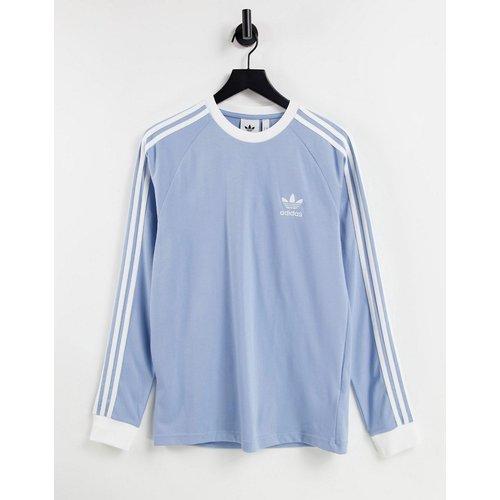 Adicolor - T-shirt à manches longues coupe boyfriend à troisbandes - adidas Originals - Modalova