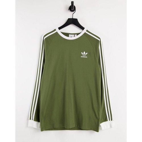 Adicolor - T-shirt à manches longues et logo trois bandes - Kaki - adidas Originals - Modalova