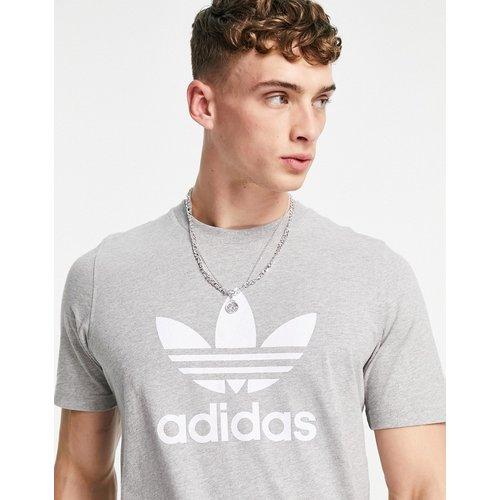 Adicolor - T-shirt avec grand logo - chiné - adidas Originals - Modalova