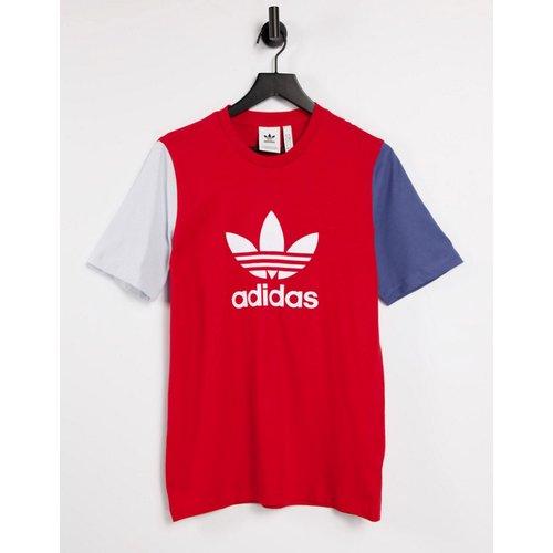 Adicolor- T-shirt coupe boyfriend avec logo effet color block - adidas Originals - Modalova